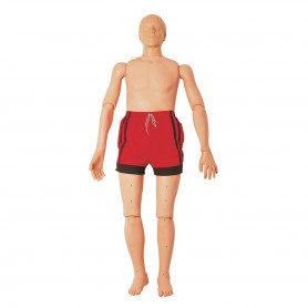 Mannequin de sauvetage aquatique, avec fonction de réanimation, 165 cm