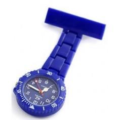 Montre infirmière PVC Bleu broche 101