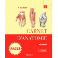 Carnet d'anatomie 1 Membres - Pierre KAMINA