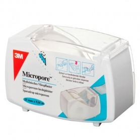 SPARADRAP MICROPORE 2,50CMX9,14M DEVIDOIR FERME