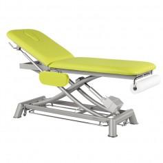 Table de massage électrique en 2 plans avec accoudoirs et barre périphériques