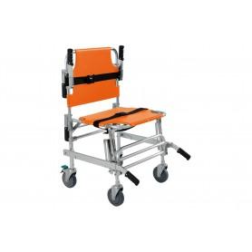 Chaise portoir Evacuation/Transfert, orange, 159 Kgs - 4 roues -ORANGE