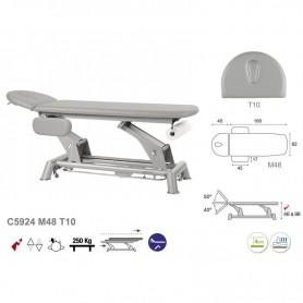 Table de massage électrique avec barre périphérique ecopostural avec accoudoirs