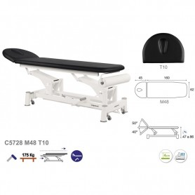 Table de massage hydraulique en 2 plans ecopostural