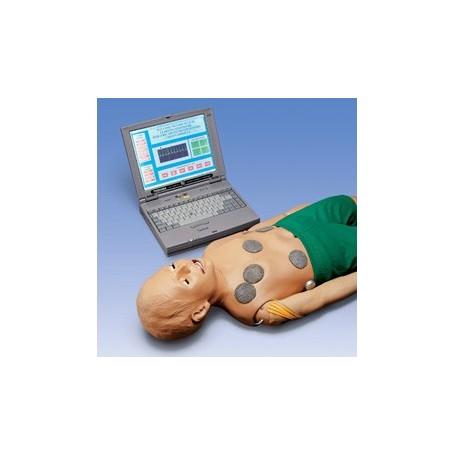 Mannequin de réanimation interactif avec ordinateur portable